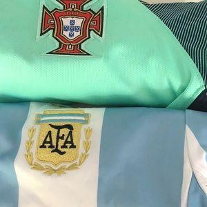 5 boys youth medium soccer jerseys